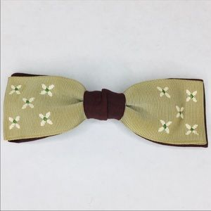 3/$50 Vintage silk grosgrain hand painted bow tie